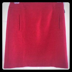 Red Talbots Skirt